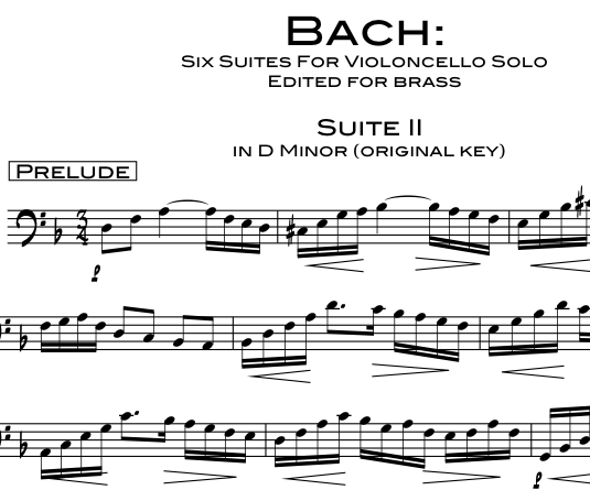 Bach Cello Suite 2 product pic