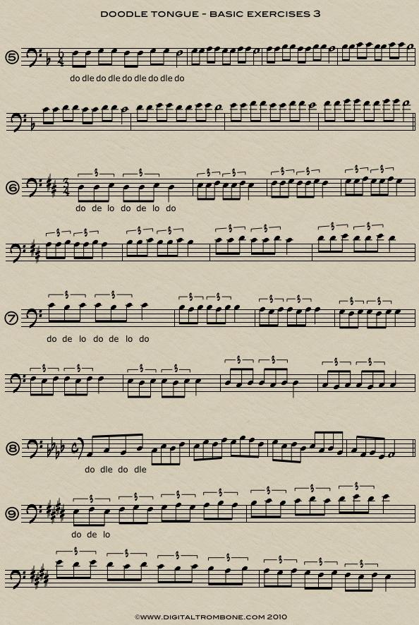 Trombone lesson: Doodle Tonguing – Part 2 | DigitalTrombone