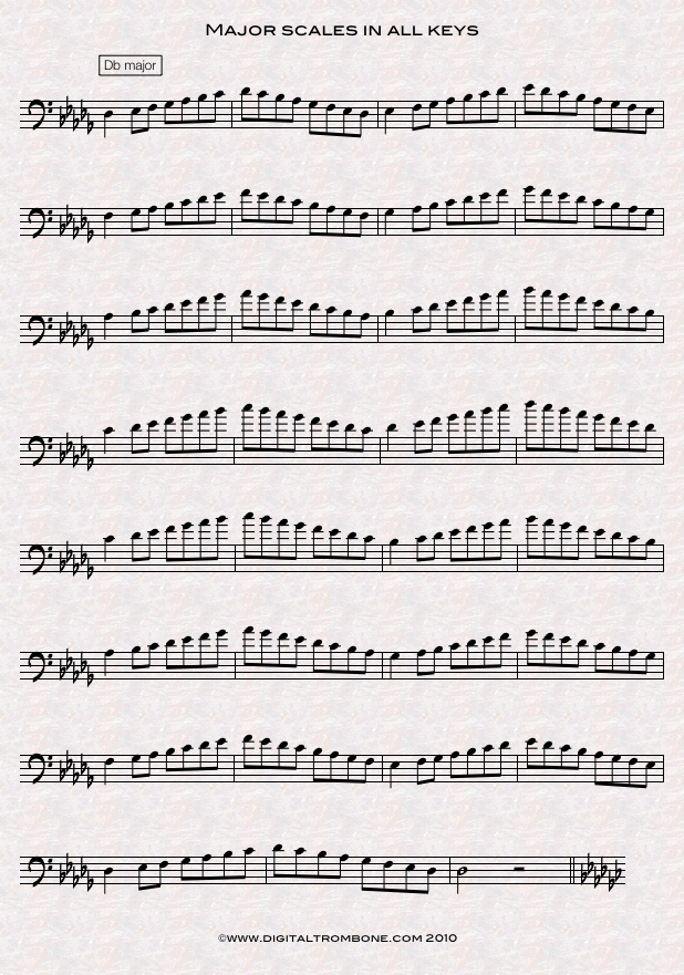Scales in all twelve keys | DigitalTrombone