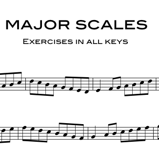 C Flat Major Scale Bass Clef Exercises for brass in...