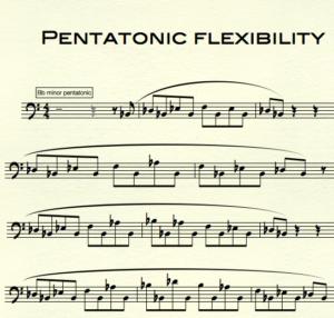 pentatonic scales free sheet music trombone