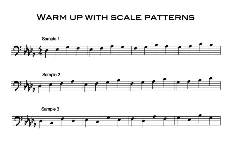 Warm up samples trombone