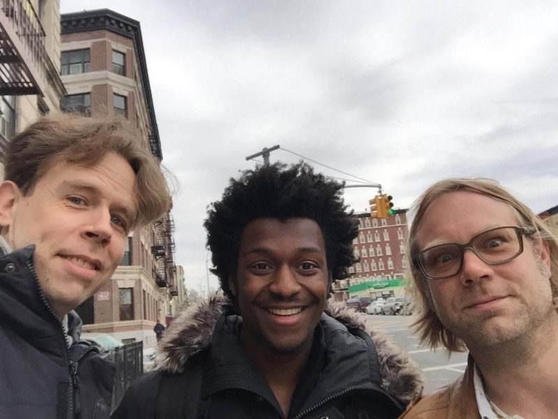 NYC singer Michael Stephenson with Anders Larson and Anders Rose
